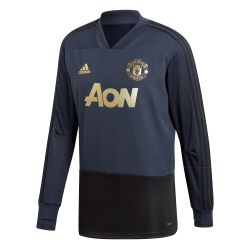 Sweat entraînement Manchester United Europe bleu 2018/19