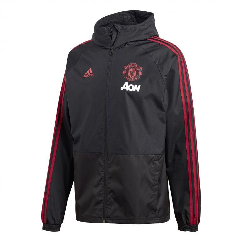 Veste imperméable Manchester United noir 2018/19