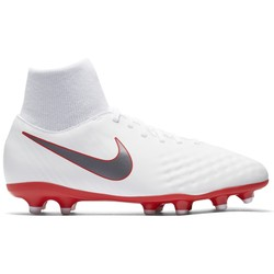sports shoes 40da5 db280 Magista Obra II junior Academy montantes FG blanc