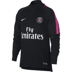 Sweat zippé junior PSG noir rose 2018/19