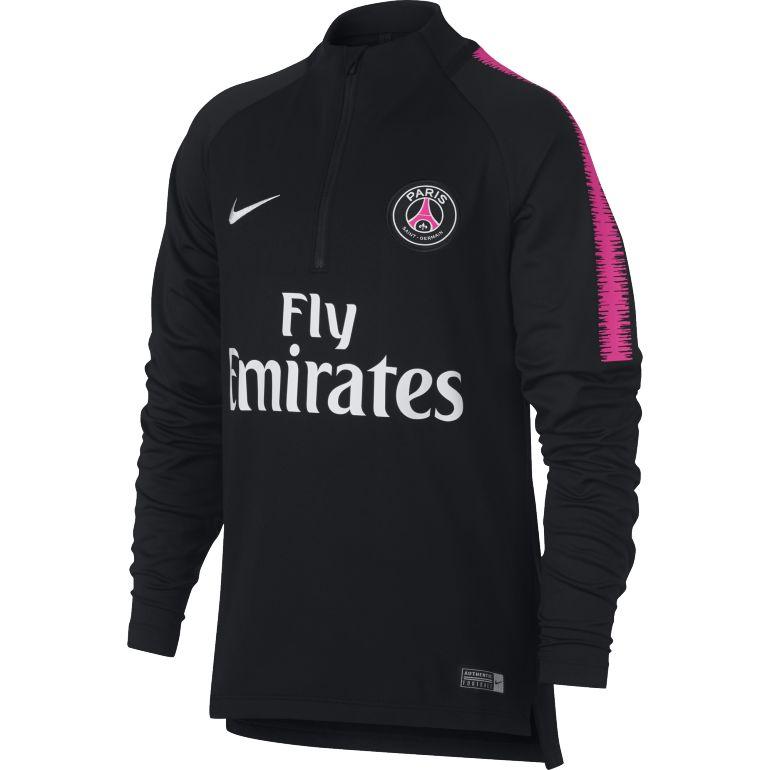Sweat zippé junior PSG noir rose 2018/19