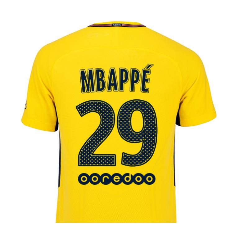 Maillot junior Mbappé PSG extérieur 2017/18