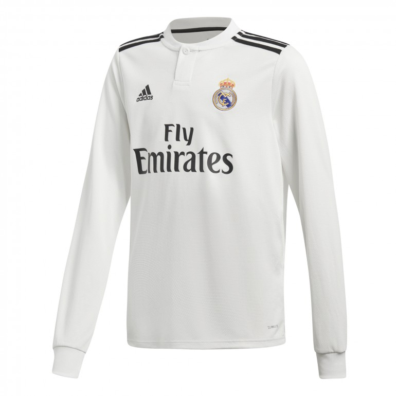 Maillot junior Real Madrid domicile manches longues 2018/19