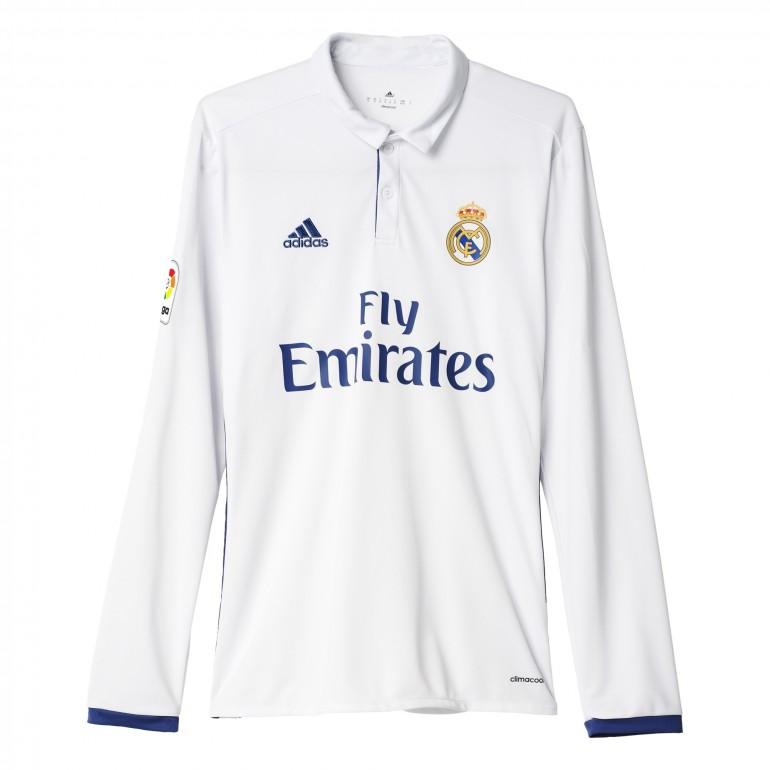 Maillot Real Madrid domicile manches longues 2016 - 2017