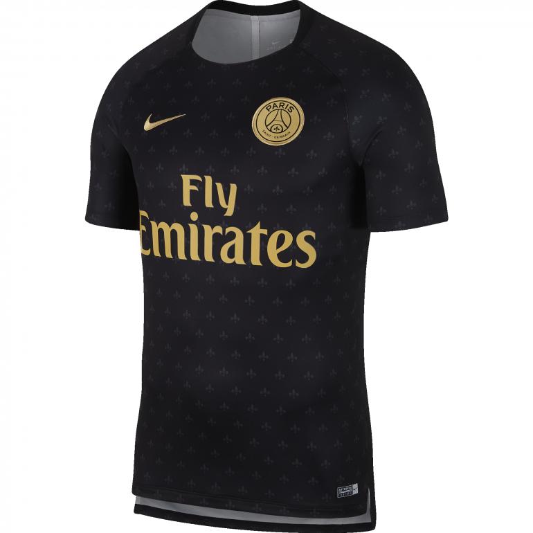 Maillot entraînement PSG noir or 2018/19