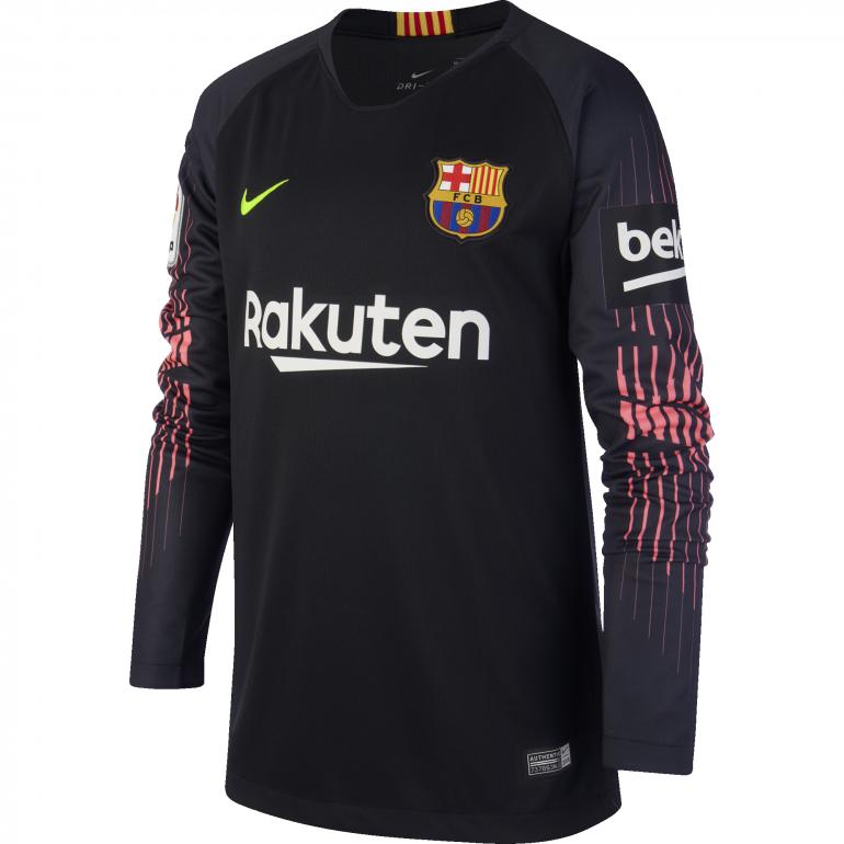 Maillot Gardien junior FC Barcelone noir 2018/19