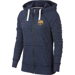 Veste survêtement à capuche Femme FC Barcelone bleu foncé 2018/19