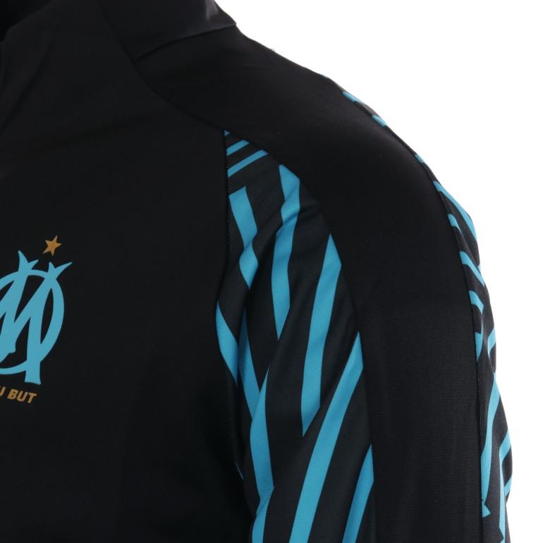 d0c153acdf1d9 Veste survêtement OM noir rayé bleu 2018 19 sur Foot.fr