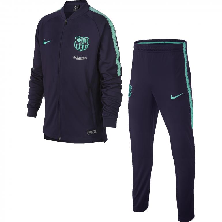 Ensemble survêtement junior FC Barcelone bleu 2018/19