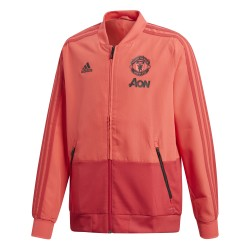 Veste survêtement junior Manchester United rouge 2018/19