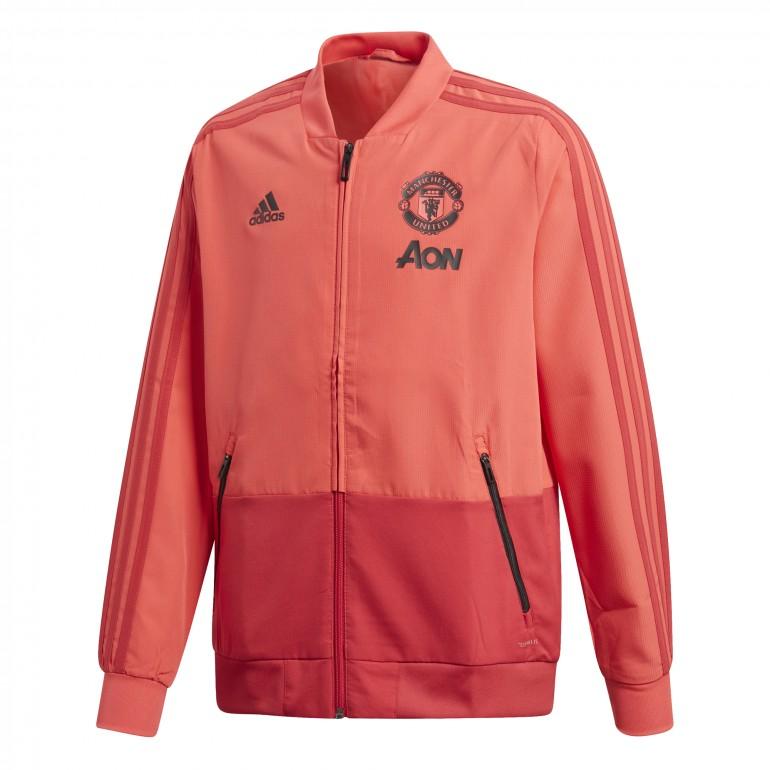 Veste survêtement junior Manchester United rouge 2018/19