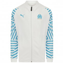 Veste survêtement junior OM blanc 2018/19