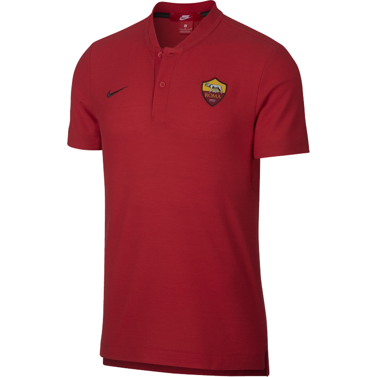 Polo AS Roma authentique rouge 2018/19