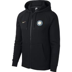 Veste survêtement à capuche Inter Milan noir 2018/19