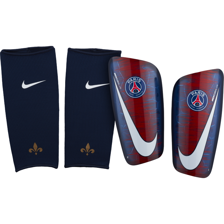 cute cheap big discount detailed images Protège-tibias PSG bleu 2018/19