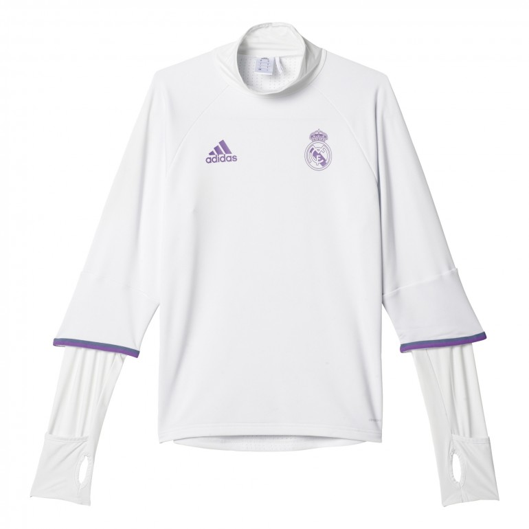 Training top Real Madrid blanc 2016 - 2017