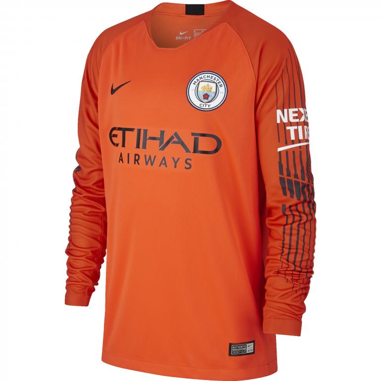 Maillot gardien junior Manchester City orange 2018/19