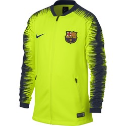 Veste survêtement junior FC Barcelone jaune 2018/19