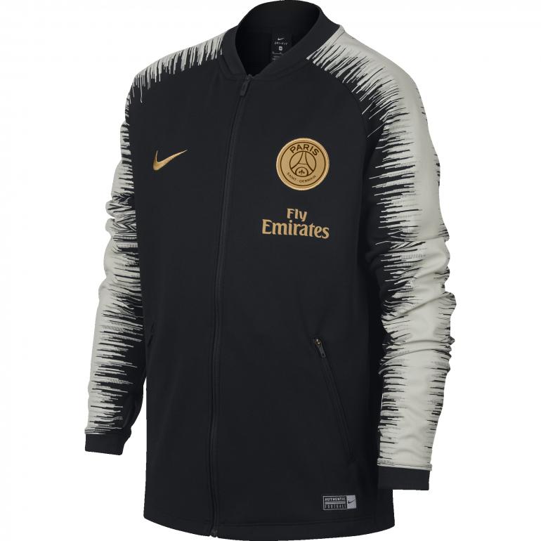 Veste survêtement junior PSG noir or 2018/19