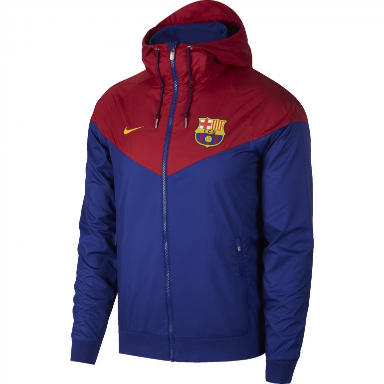 Coupe vent FC Barcelone bleu rouge 2018/19