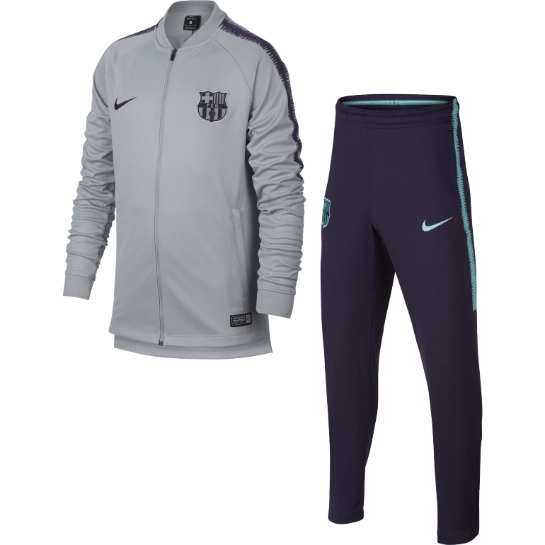 Ensemble survêtement junior FC Barcelone gris 2018/19