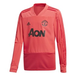 Sweat entraînement junior Manchester United rouge 2018/19
