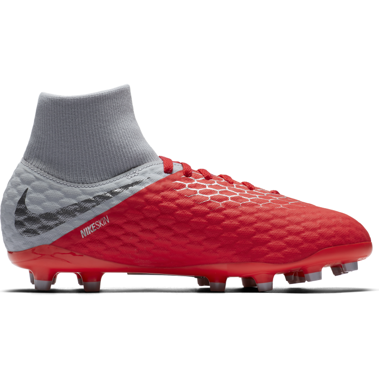 Kids' Nike Jr. Hypervenom Phantom 3 Academy Dynamic Fit (FG) Firm-Ground Football Boot
