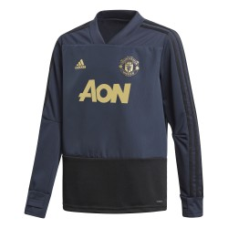 Sweat junior entraînement Manchester United Europe bleu 2018/19
