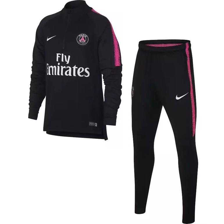 ca05c442c63ea Ensemble survêtement sweat PSG noir rose 2018 19 sur Foot.fr