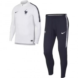 Ensemble survêtement sweat Equipe de France blanc 2018