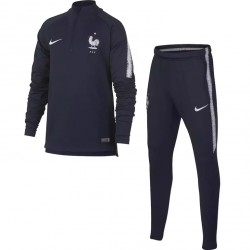 Ensemble survêtement junior sweat Equipe de France bleu 2018