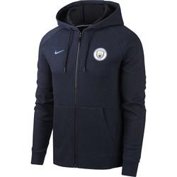 Veste survêtement à capuche Manchester City bleu foncé 2018/19