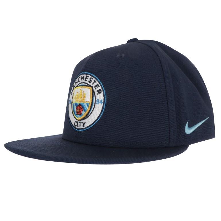 Casquette visière plate Manchester City bleu 2017/18