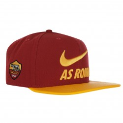 Casquette visière plate AS Roma rouge 2018/19