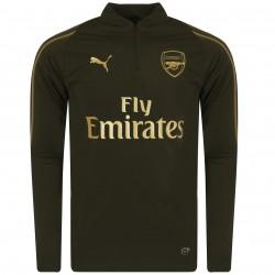 Sweat zippé Arsenal vert or 2018/19