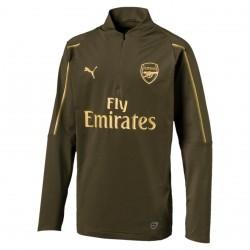 Sweat zippé junior Arsenal vert or 2018/19
