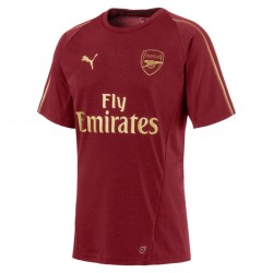 Maillot entrainement Arsenal rouge or 2018/19