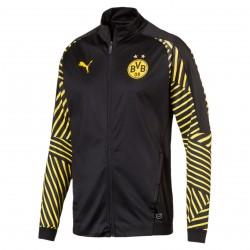 Veste survêtement Dortmund noir rayé jaune 2018/19