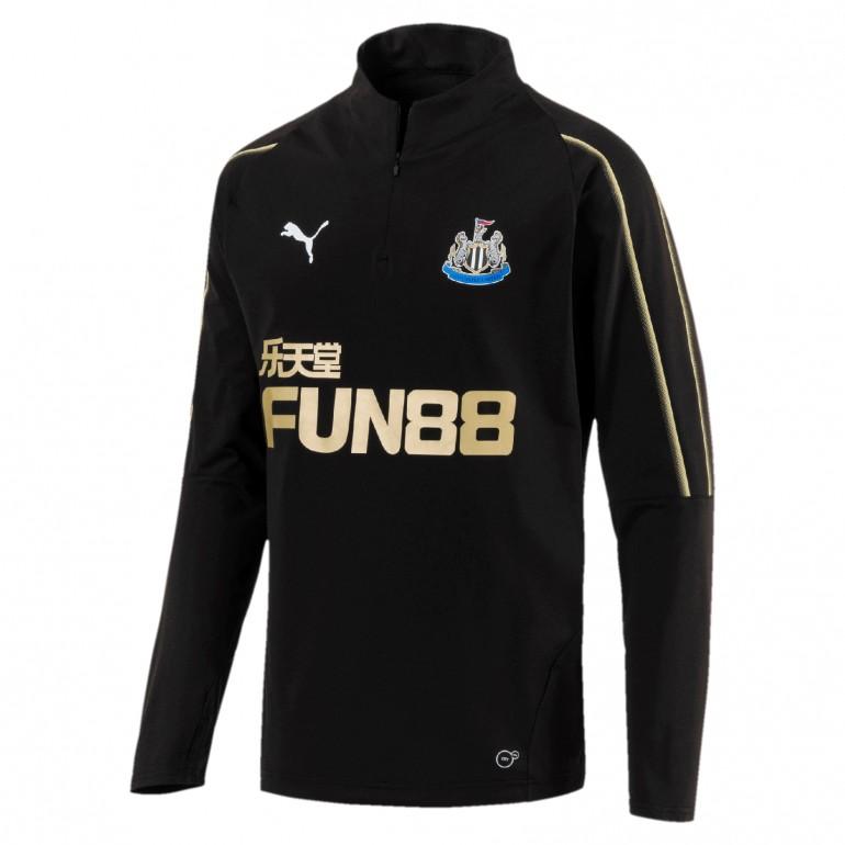 Sweat zippé Newcastle noir 2018/19