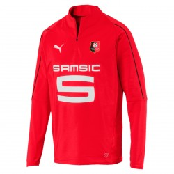 Sweat zippé Stade Rennais rouge 2018/19