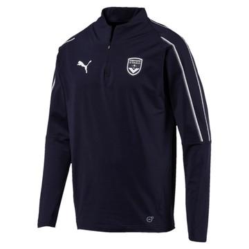 Sweat zippé junior Bordeaux bleu foncé 2018/19