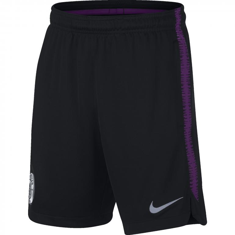 Short entrainement junior Manchester City noir violet 2018/19