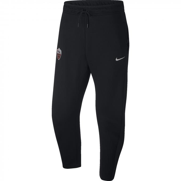 Pantalon survêtement AS Roma Tech Fleece noir 2018/19