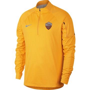 Sweat zippé AS Roma Aeroshield jaune 2018/19
