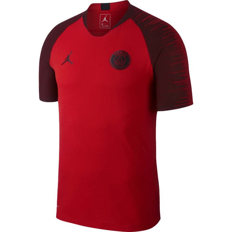 maillot entra nement psg jordan vaporknit rouge 2018 19 sur. Black Bedroom Furniture Sets. Home Design Ideas