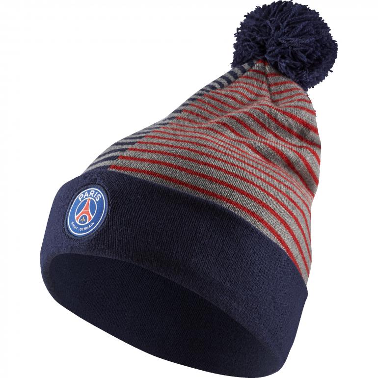Bonnet PSG avec pompon bleu 2018/19