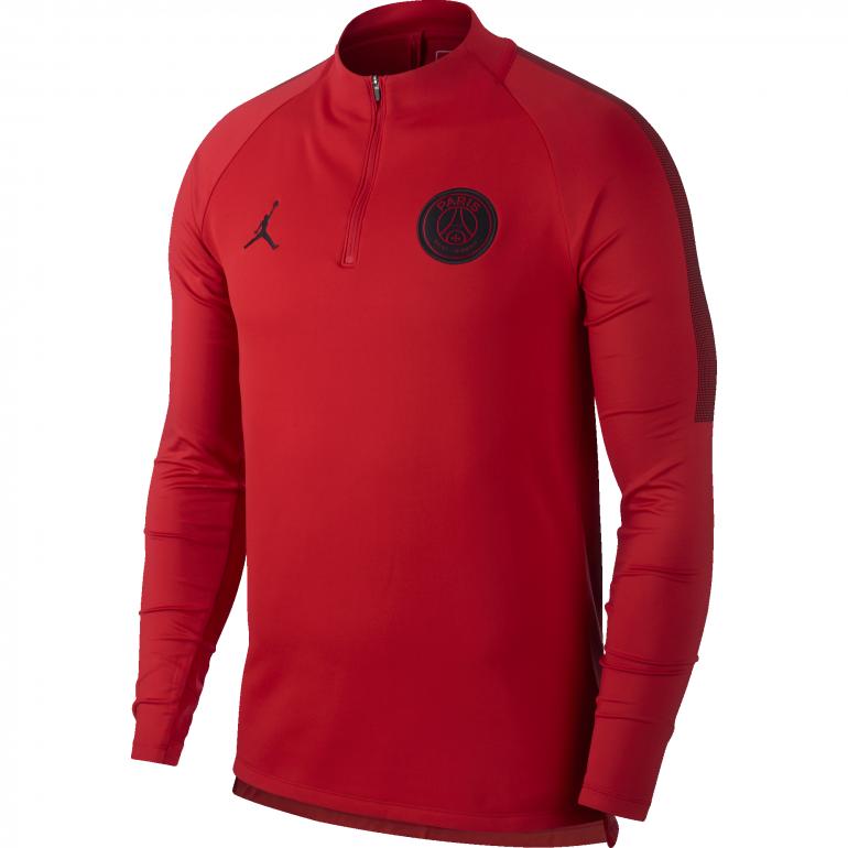 Sweat zippé PSG Jordan rouge 2018/19