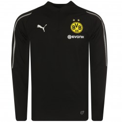 Sweat zippé Dortmund noir 2018/19