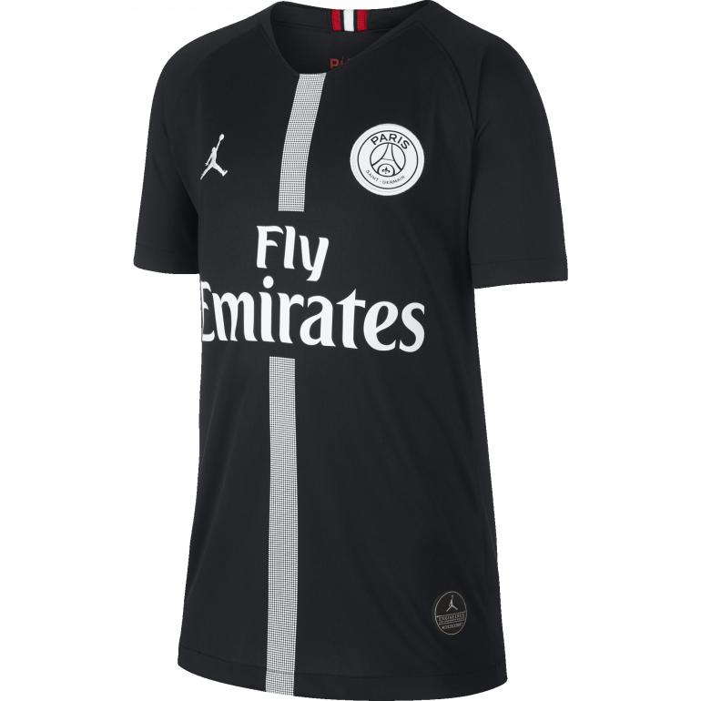 Maillot junior PSG Jordan third noir 2018/19