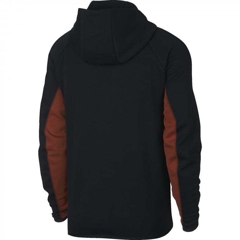 e2f7b4c066726 Veste survêtement AS Roma Tech Fleece noir orange 2018/19 sur Foot.fr